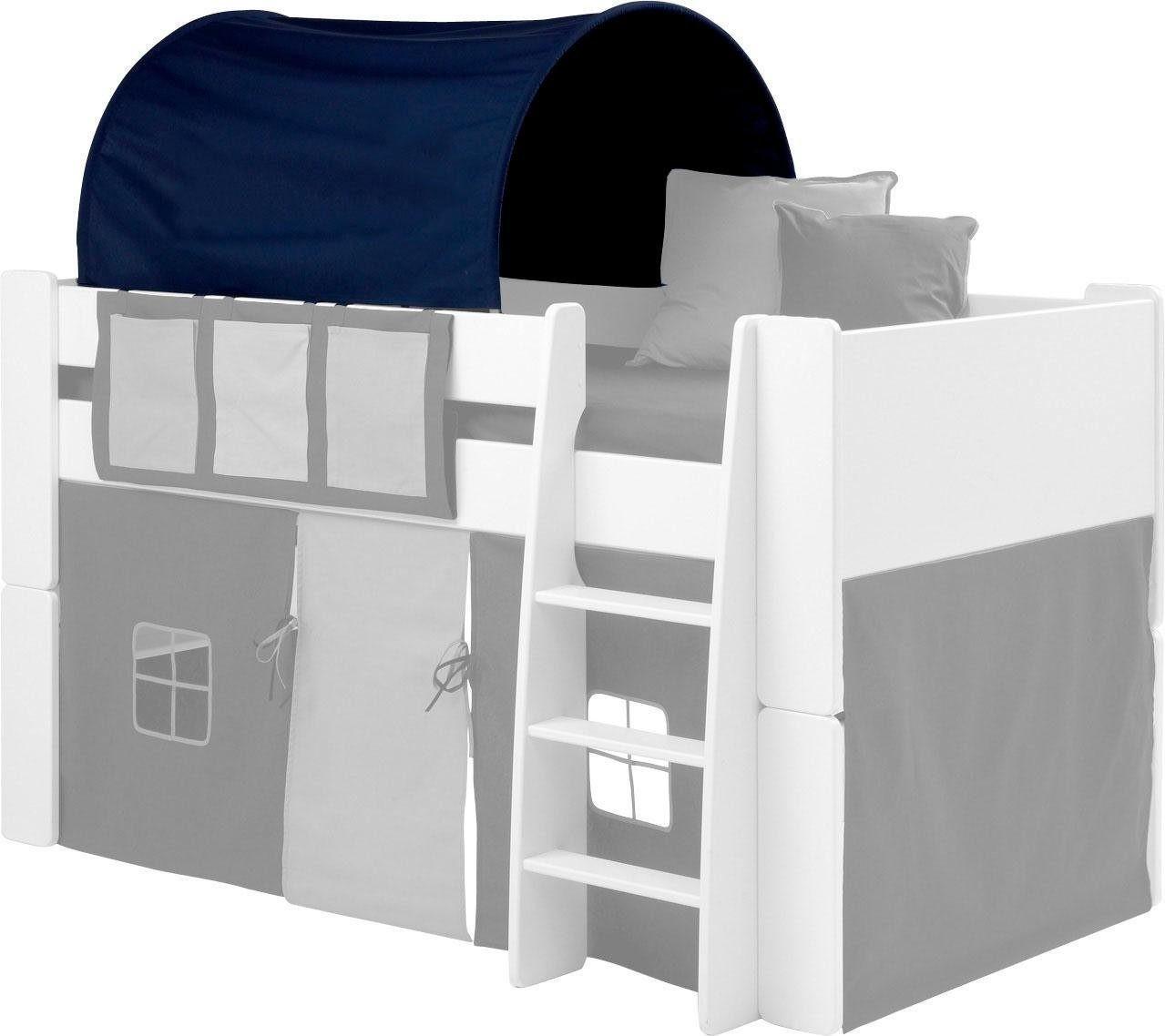 Dolphin Betttunnel für Kinderbett dunkelblau