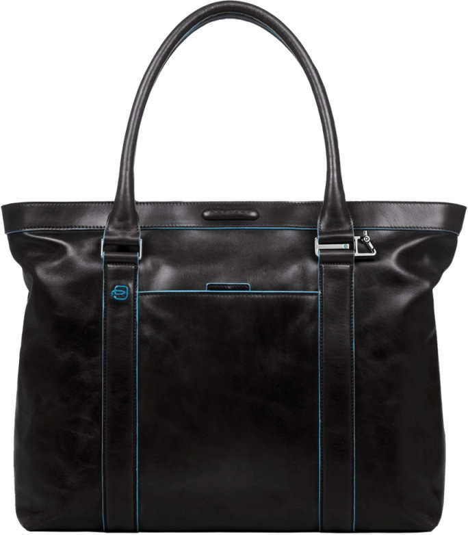 Piquadro Shopping bag Blue Square black (BD3145B2)