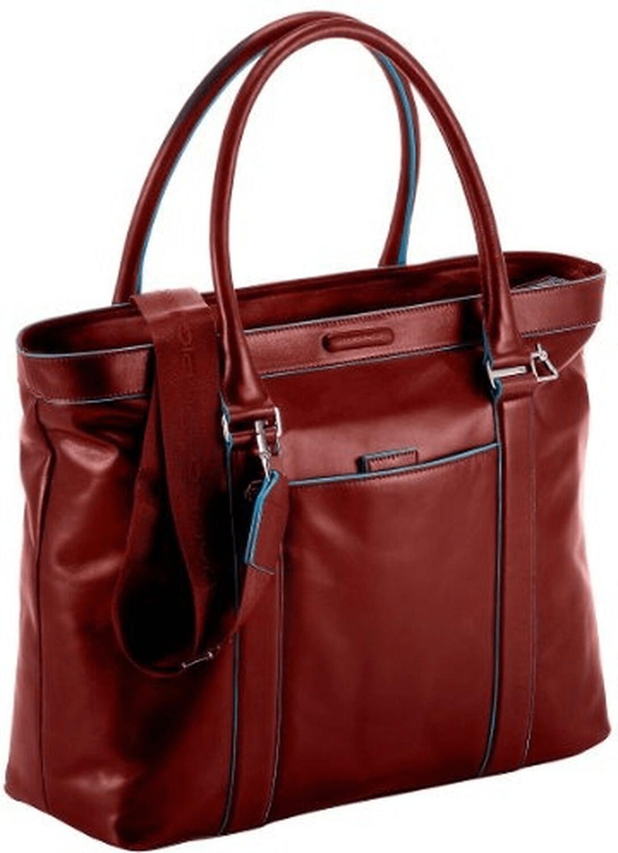 Piquadro Shopping bag Blue Square red (BD3145B2)