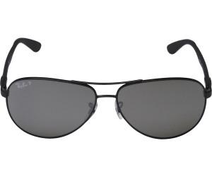 RAY BAN RAY-BAN Sonnenbrille »CARBON FIBRE RB8313«, schwarz, 002/K7 - schwarz/schwarz
