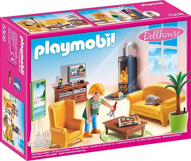 Playmobil Wohnzimmer mit Kaminofen (5308)