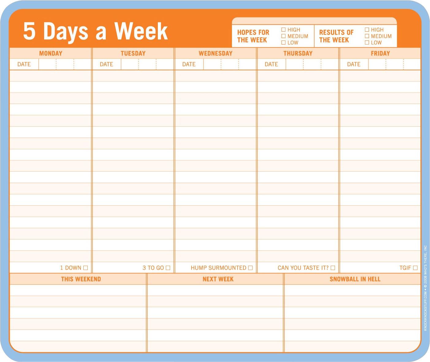Image of Knock Knock Mousepad - 5 Days a Week