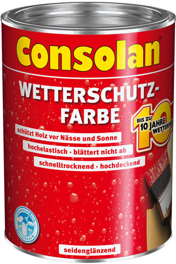 Consolan Wetterschutz-Farbe 0,75 l grün