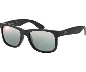 RAY BAN RAY-BAN Herren Sonnenbrille »JUSTIN RB4165«, schwarz, 622/6G - schwarz/silber