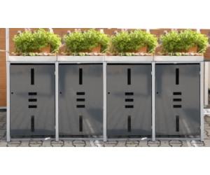 edigarden m lltonnenbox 4 x 240 liter anthrazit ab. Black Bedroom Furniture Sets. Home Design Ideas