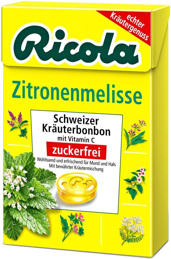 Ricola Zitronenmelisse ohne Zucker (50 g)