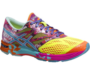 asics gel noosa tri 10 womens shoes yellow/turq/pink
