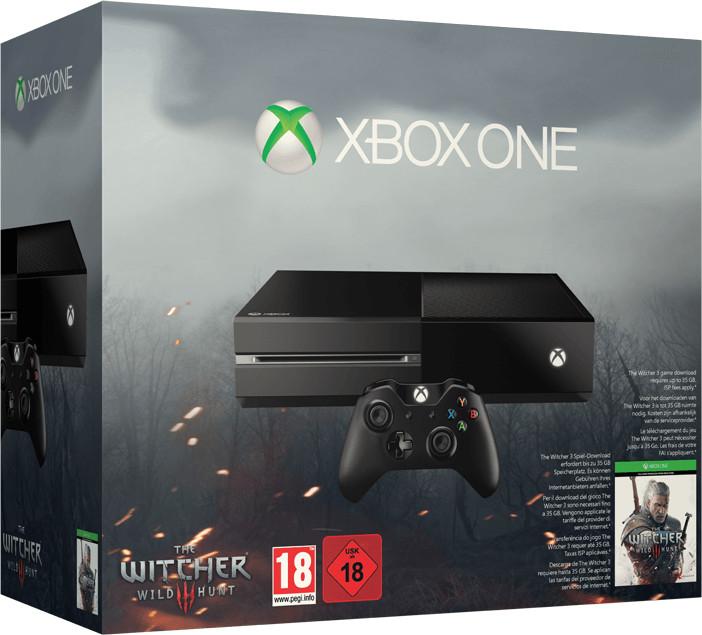 Microsoft Xbox One 500GB + The Witcher 3: Wild ...