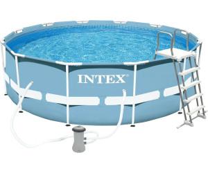 Intex metal frame 366 x 122 cm 28226 au meilleur prix for Piscine 366 x 122