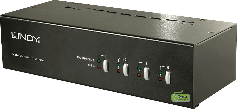 Lindy 4 Port DVI Dual Link & Dual Head KVM Switch Pro