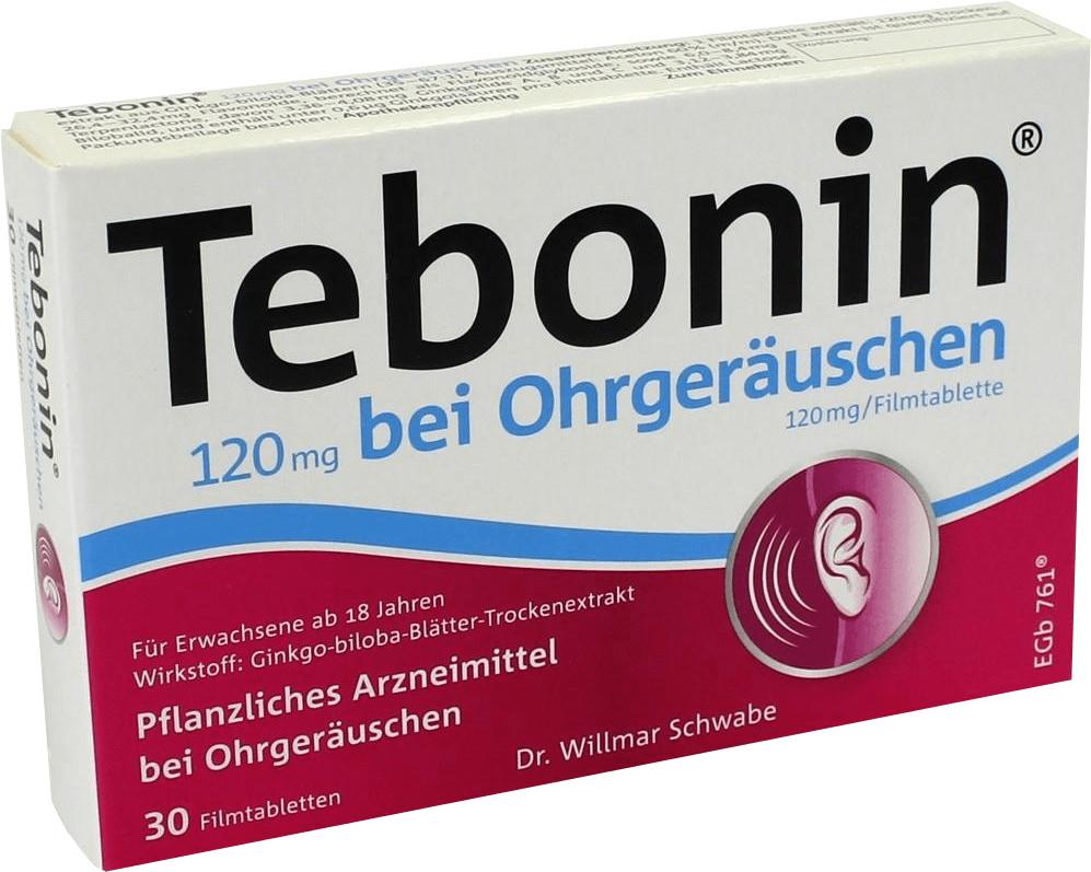 Tebonin 120 mg bei Ohrgeräuschen Filmtabletten (30 Stk.)