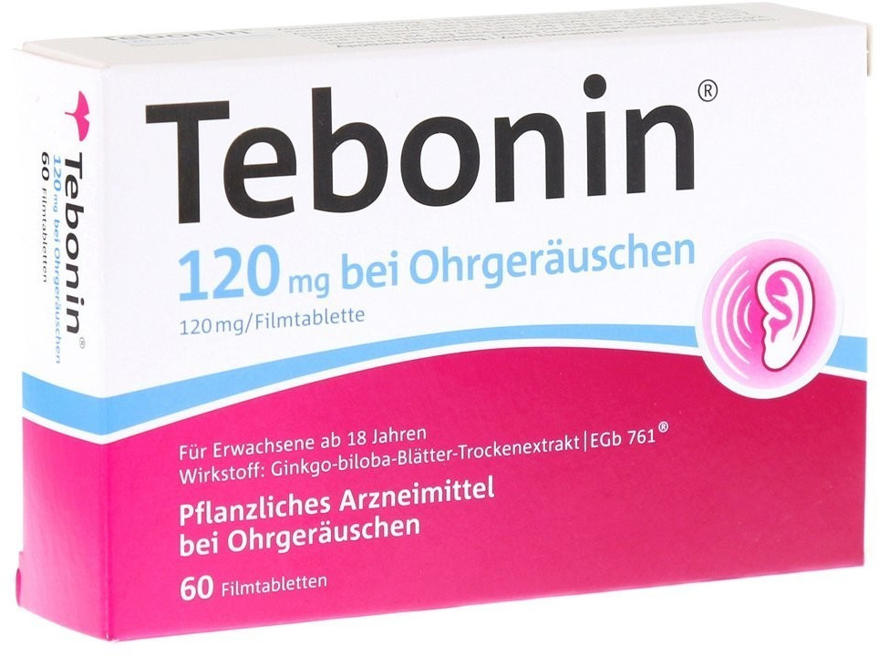 Tebonin 120 mg bei Ohrgeräuschen Filmtabletten (60 Stk.)