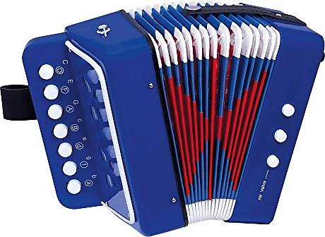 Bino Akkordeon blau