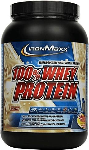 IronMaxx 100% Whey Protein Neutral 900g