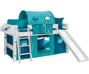 dolphin halbhohes bett moby mit schr ger leiter wei ab 279 00 preisvergleich bei. Black Bedroom Furniture Sets. Home Design Ideas