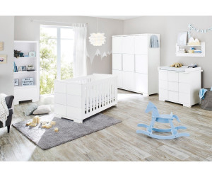 pinolino kinderzimmer polar wickelkommode breit kleiderschrank 3 trg ab. Black Bedroom Furniture Sets. Home Design Ideas