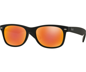 Ray-Ban New Wayfarer RB2132 622 69 (black rubber brown mirror red ... fb0ca24f9932