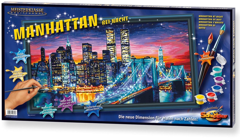 Schipper Malen nach Zahlen Manhattan bei Nacht