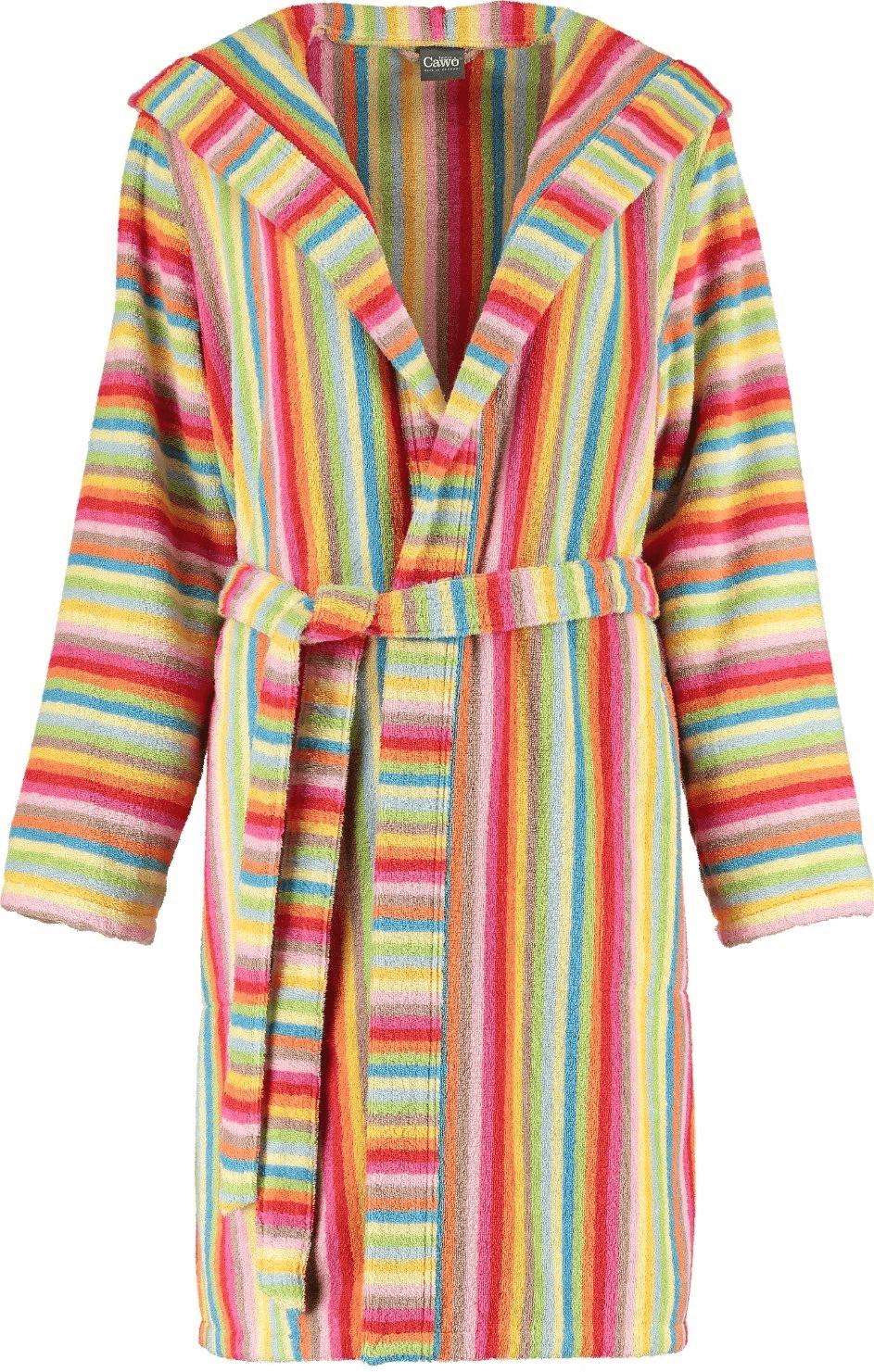Cawö Damen Bademantel Lifestyle (7082) multicolor