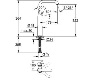GROHE Essence Einhand Waschtischbatterie (32901001) ab 130,42 ...