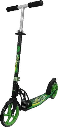 New Sports Scooter 205 Green Pattern