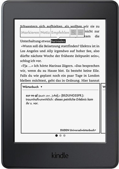 Kindle Paperwhite 3G schwarz (2015)