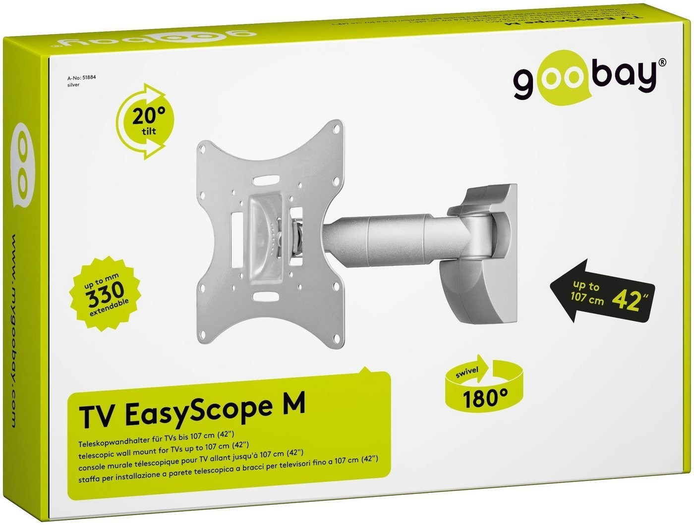 Goobay TV EasyScope M silber