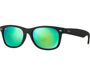 7b5b8008027585 Ray-Ban New Wayfarer RB2132 622/19 (black rubber/grey mirror green ...