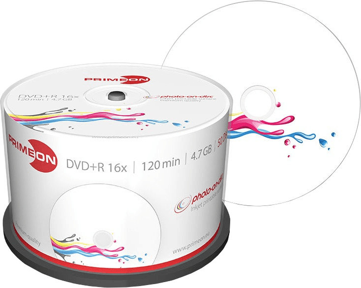 #Primeon DVD+R Double Layer 8,5 GB Photo-On-Disc 25er#