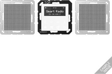 Image of Jung Series A Smart Radio - Set Stereo (RAD A 528)