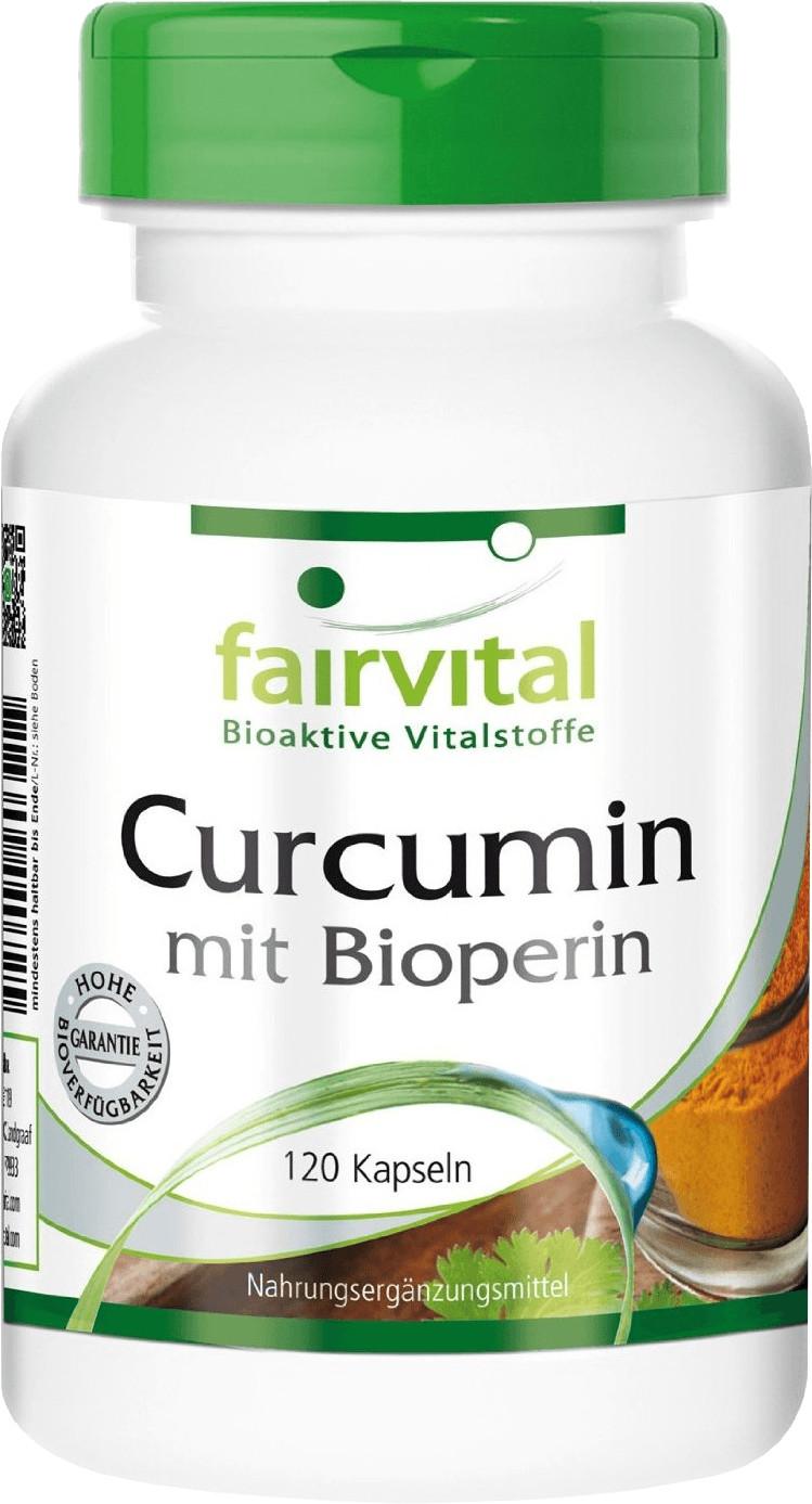 Fairvital Curcumin mit Bioperin 500 mg Kapseln (120 Stk.)