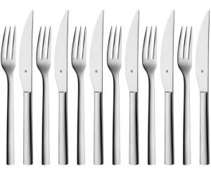 WMF Steakbesteck 12 tlg Grillbesteck für 6 Personen in Holzkassette Edelstahl