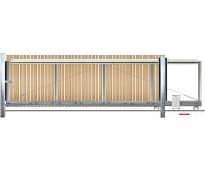 bauer schiebetor l rche h he 80 cm ab 788 60 preisvergleich bei. Black Bedroom Furniture Sets. Home Design Ideas