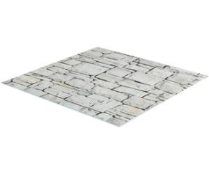 Glas Natur 40 x 15 x 3 cm Zeller Herdblende-//Abdeckplatte Marmor