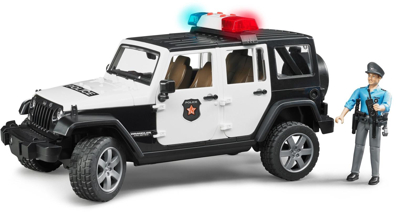Bruder Jeep Wrangler Unlimited Rubicon Polizeifahrzeug mit Polizist und Ausstattung