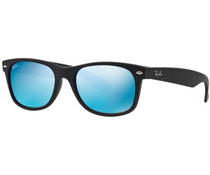 Ray-Ban New Wayfarer RB2132 622 17 (black rubber blue) au meilleur ... 52f75eef54a0