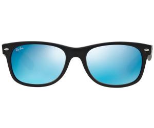 Ray Ban New Wayfarer Rb2132 622 17 Black Rubber Blue Au