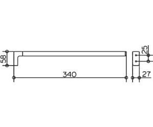 keuco moll handtuchhalter 1 armig 34 cm ab 38 73 preisvergleich bei. Black Bedroom Furniture Sets. Home Design Ideas