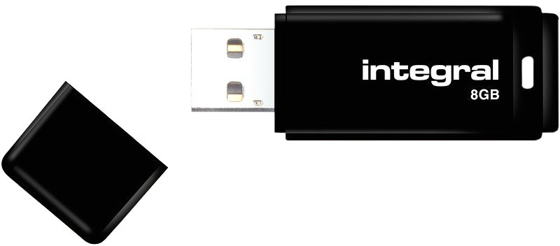 Image of Integral Black USB 2.0 8GB