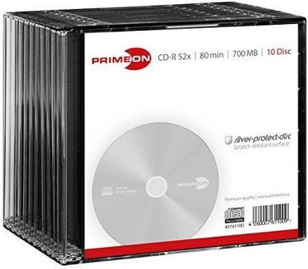 Primeon CD-R Silver-Protect-Disc 700MB 80min 52...