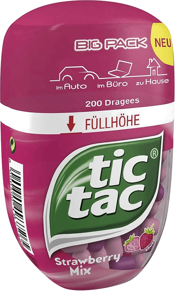 TicTac Strawberry Mix Big Pack (98g)