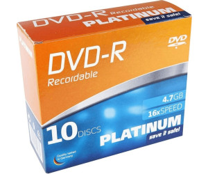 Image of Bestmedia DVD+R Platinum 4.7GB 16x 10pk Slimcase (102566)