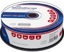 MediaRange CD-RW MR235-25 700MB 12x 25er Cakebox