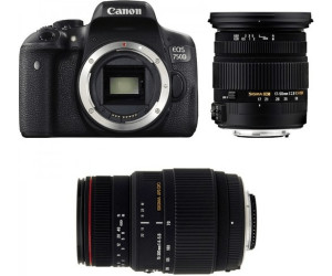 Canon EOS 750D Kit 17-50mm + 70-300mm Sigma