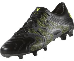 Buy Adidas X15.1 FG AG Men Leather core black night metallic solar ... 61be0bab06e3c
