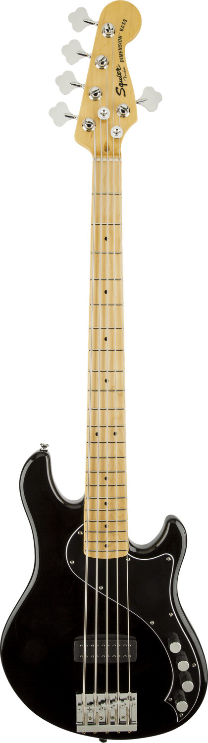 Squier Deluxe Dimension Bass V BLK Black
