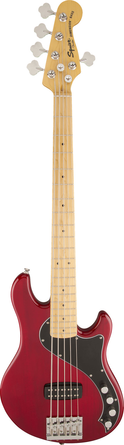 Squier Deluxe Dimension Bass V CRT Crimson Red ...