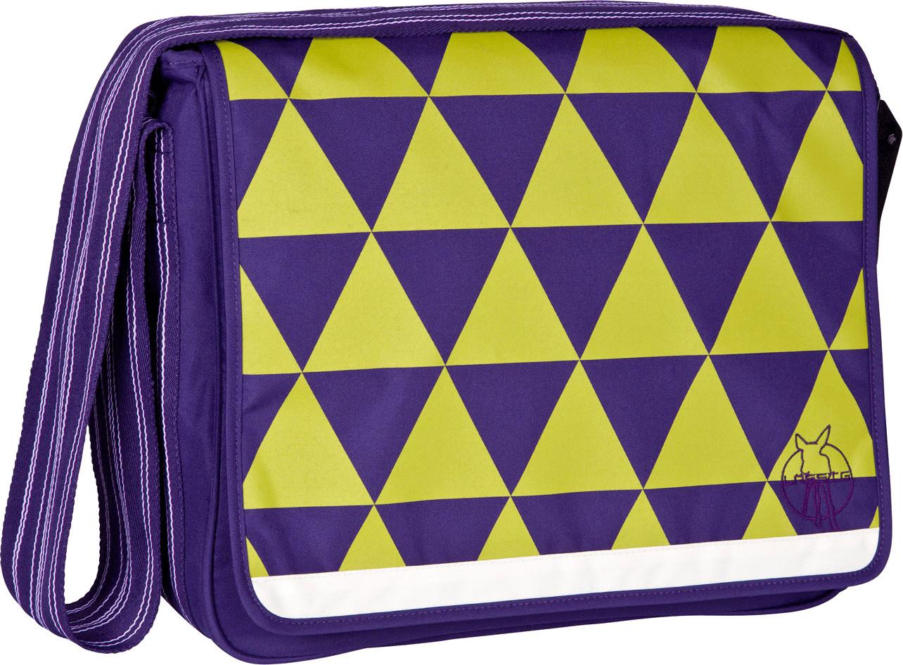 Lässig Casual Messenger Bag Triangle dark purple