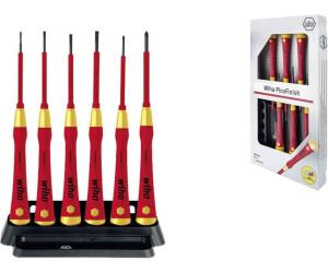 Wiha 38996 2270P K6 PicoFinish Jeu de 6 tournevis /à fente pour appareils /électriques