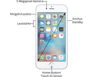 apple iphone 6s 128gb silber ab 389 00 preisvergleich bei. Black Bedroom Furniture Sets. Home Design Ideas